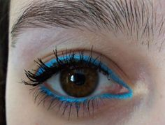 Bold turquoise liner look/a thing of beauty