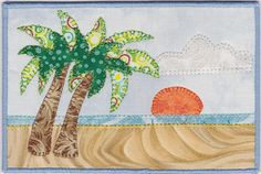 By the Sea Fabric Postcard by zizzybob on Etsy, $7.00.... Want to try making some fabric/art quilt postcards using my sizzix dies!