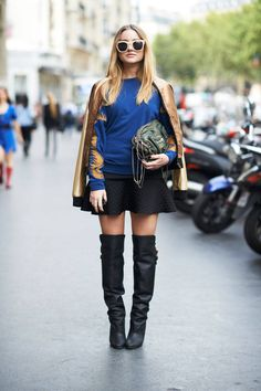 thigh high boots, thigh high boots street style, (13)