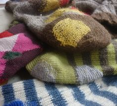 To heck with trying to hide the darns in holey socks, just let 'em add to the handmade charm.   darning | tomofholland