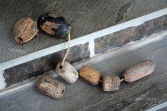 Rustic Set of Wooden Bouys on rope. Qty 7. by NorthMajestyTrail, $40.00