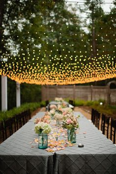 How gorgeous is this garden wedding?