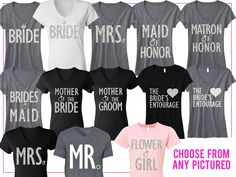Pick any 6 BRIDAL/WEDDING #Wedding & #Bridal #Shirts and Receive 15% off #Bundle + FREE MRS #Tote -- By #NobullWomanApparel, for only $127.95! Click here to buy http://nobullwoman-apparel.com/collections/bridal-shirt-packages/products/bridal-wedding-6-shirts-15-off-bundle