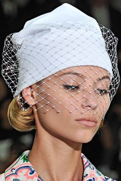 Jil Sander >> Spring 2012 >> Details...bringing back hats is a wonderful thing.