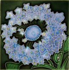 "Decorative Ceramic Art Tile - 4"" x 4"" - Blue Hydrangea Flowers Close-Up by Wind River - Gifts & Home Decor. $9.99. Hand-painted, then kiln-fired at high temperatures. Backing is removable to install as a standard tile. Brilliantly colored, with complex glazes and unique textures. Hang on a wall or use built-in easel to display. Tile painting is a traditional Chinese craft with a 2,000-year history. Every art tile from Wind River is hand-painted by highly skilled craftspeop..."