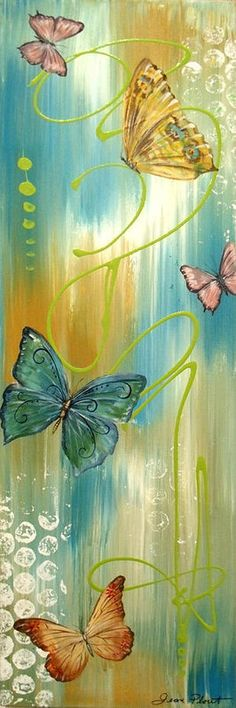 Butterfly Print featuring the painting Butterfly Bliss 2 by Jean Plout