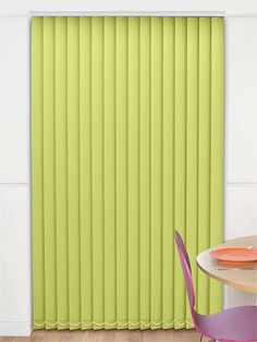Refreshingly bright, the Sevilla Blackout Apple vertical blind will have you dancing on your tones everyday of the week!
