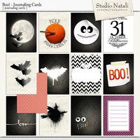 Boo! Journaling Cards