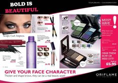 complete the look of love with the Oriflame Beauty Eyebrow Kit. Eyebrows give your face character and perfectly groomed they can be a real beauty asset. Big bold beautiful brows were big last season and there is no stopping this beauty trend, it's here to stay! Thicken and shape your brows for just £5.95 and follow the directions in the catalogue on how to use . Please remember though, blondes go one shade darker and brunettes go one shade lighter than your hair colour.