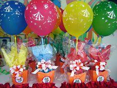 Produto: Cachepot decorado Tema: circo Kid Party Favors, Candy Party, Party Catering, Mario Bros, Valentino, Birthday, Safari Party, Pocoyo, Party