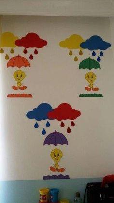 30 Classroom decorating ideas - Aluno On Preschool Classroom, Classroom Decor, Preschool Activities, Crafts For Kids, Arts And Crafts, Paper Crafts, Color Concept, School Doors, Board Decoration
