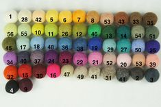 100% Wool Felt Balls,  50 pcs, 1 inch (2.3 cm), pure wool, pick your colors
