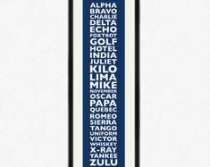 NATO phonetic alphabet Typographic Print
