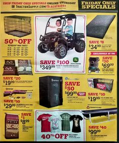 Tractor Supply Black Friday 2017 Ads and Deals See all the best Tractor Supply Black Friday 2017 deals, sales and doorbuster promotions. Start browsing the Tractor Supply Black Friday ad today and ... #tractorsupply #tractorsupplyblackfriday #tractorsupplyblackfriday2017 #blackfriday #blackfriday2017