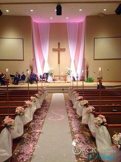 Blush ceremony- we created the custom monogram from petals.The blush aisle florals were moved to the reception to create the head table.