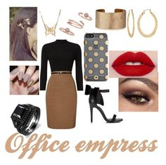 """""""Office empress"""" by joethemusiclover ❤ liked on Polyvore featuring Phase Eight, Miss Selfridge, Kate Spade, Panacea, Kendra Scott, Fragments and Alkemie"""