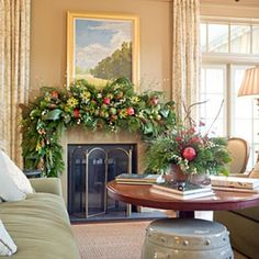Lush & Sophisticated - Dressed-Up Christmas Mantels