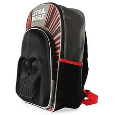 05740f611d21 School Backpack Star Wars Darth Vader 3D For Kids Students Bookbag Large  16