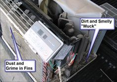 How To Remove That Bad Mildew Smell From a Window Air Conditioner. Either I need to do this or get a new air conditioner House Cleaning Tips, Spring Cleaning, Cleaning Hacks, Cleaning Products, Clean Air Conditioner, Window Air Conditioner, Window Ac Unit, Mildew Remover, Heating And Air Conditioning