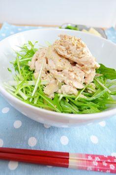◆水菜と蒸し鶏のクリーミー胡麻サラダ♬ by ユミタロウ [クックパッド ...