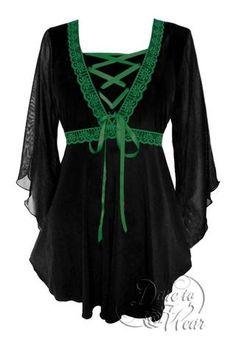 Eternal Love Black Wine Lace Romantic Gothic Renaissance Gypsy Blouse XS XL-1X