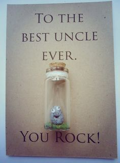 Gift ideas for uncles. Uncle gift // Birthday // Best uncle ever // You rock // Option to have it personalised. Charming gifts from undertheblossomtree.com handmade in Edinburgh.