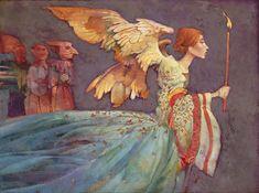 """James Christensen                                                            """"Angel With 3 Devils"""""""
