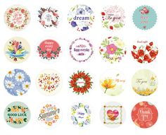 Flower Pattern 38 pcs/bag DIY Cute Kawaii Girl Paper Sticker Vintage Romantic Love for Diary Decoration Scrapbooking