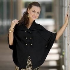 Double Breasted Caplet Sweater from Monroe and Main.  Fashion Fit for You in Misses & Plus Sizes. www.monroeandmain.com