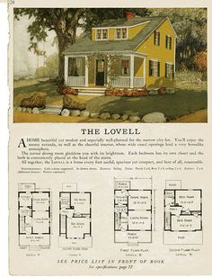 this looks a bit like my house! Sterling Kit House - The Lowell Sims 4 House Plans, House Floor Plans, Architecture Design, Cottages And Bungalows, Vintage House Plans, Craftsman Bungalows, House Blueprints, House Layouts, Kit Homes