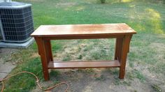 Sofa table before.