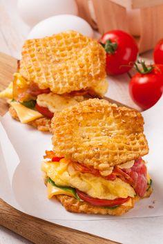 Сэндвич с ветчиной и сыром: вкусное и быстрое блюдо из вафельных коржей БРИЗОЛИ ЛЕКОРНА.  #Бризоли #Lekorna #Лекорна #Вафли #Wafers #рецепты