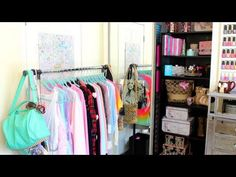 The Sparkly Lifestyle: Closet Organization ~ Closet Tour Closet Tour, Cute Room Ideas, Room Closet, Big Girl Rooms, Room Tour, Closet Organization, Organization Ideas, Home Bedroom, Bedrooms