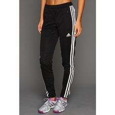 adidas Tiro 13 Training Pant Women's Workout ($36) ❤ liked on Polyvore featuring activewear, activewear pants, bottoms, joggers, black, adidas sportswear, logo sportswear, adidas and adidas activewear