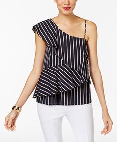 41.99$  Buy here - http://viyvq.justgood.pw/vig/item.php?t=wfnen1b33263 - Striped One-Shoulder Tiered Blouse