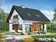 Dom w borówkach 4 Home Focus, House Construction Plan, Simply Home, Bungalow Homes, Nordic Home, Small House Design, Minimalist Home, Home Fashion, Home Projects