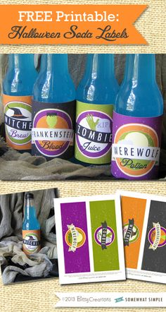 Free Printable: Halloween Soda Labels