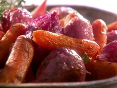 Roasted Radishes and Carrots from FoodNetwork.com