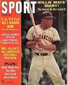 baseball magazines 1964 | 1964 Oct Sport Magazine Baseball Willie Mays San Francisco Giants ...