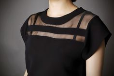 2014 New Ladies Black Tulle Sheer Blouses Shirts Women's Tops Chiffon Blouse Short Hollow Out Blusas Femininas Summer CS9090-in Blouses & Shirts from Apparel & Accessories on Aliexpress.com