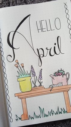 Hello April My bullet journal❤