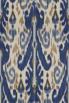 Lee Jofa Kravet Ethnic Pardah Southwest Ikat Kilim Fabric 10 Yards Indigo  Blue