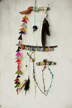 Branches, Embroidery Floss, Felt, Bells...