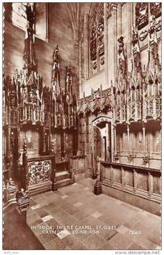Interior Thistle Chapel, St Giles Cathedral Edinburgh - Midlothian/ Edinburgh