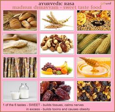 Ayurveda has developed a very simple dietary program - the SIX TASTES. Ayurvedic Therapy, Ayurvedic Healing, Ayurvedic Diet, Ayurvedic Recipes, Ayurvedic Remedies, Ayurvedic Herbs, Ayurvedic Medicine, Holistic Healing, Natural Remedies