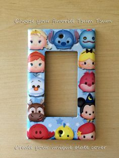 Choose your favorite Tsum Tsum and design a unique light switch cover Excellent room décor Great gift only $8.99 Order from my Etsy shop now www.etsy.com/shop/JTsGrotto