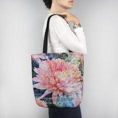 Birthday Blossom Tote Bag - November Chrysanthemum