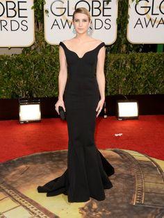 Emma Roberts Golden Globes red carpet 2014