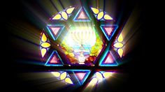 Stained Glass Star of David ♥
