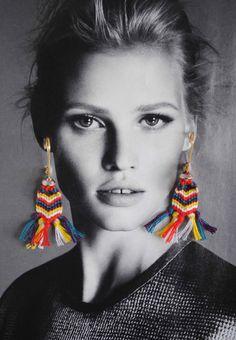 DIY Friendship Bracelet Inspired Earrings